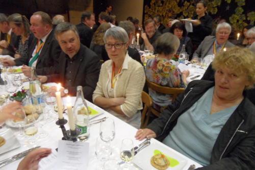 Frairie de printemps au château de Boudry: Philippe Wildi, M. et Edith Aubron, et Sonja Schmid.