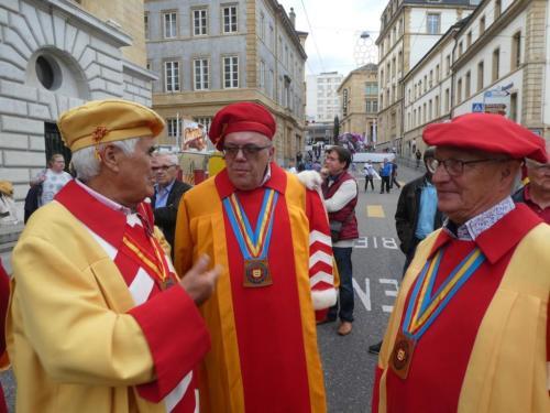 Fête des vendanges: Michel Tardin, Jean Panes et Jean-François Kunzi.