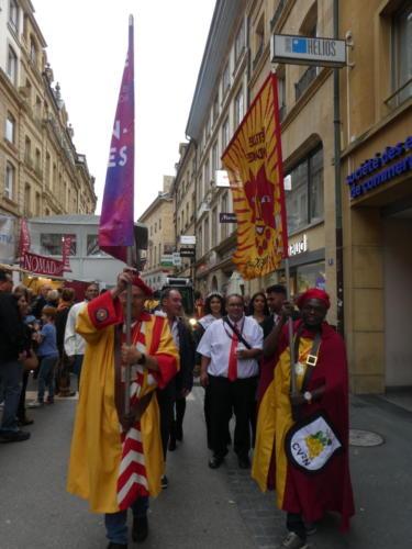 Ouverture de la Fête des vendanges de Neuchâtel.