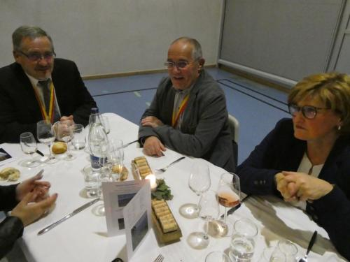 Frairie d'automne à Hauterive: Jean-Maurice Cantin, Claude Gabus et Mme von Gunten.